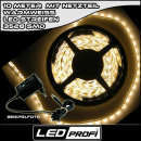 Set LED Strip Streifen WARMWEISS 10m 600 LEDs inkl....